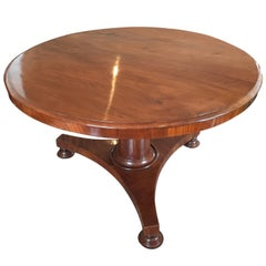 French Mahogany Tilt-Top Table, 1840