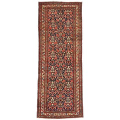 Antique Persian Malayer Gallery Rug with Herati Pattern, Wide Hallway Runner