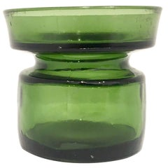 Eight Danish Modern Green Glass Candle Holders Designed by Quistgaard for Dansk