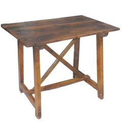 18th Century Tuscan Occasional trestle Table