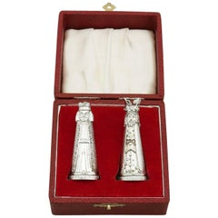 1969 Sterling Silver Novelty Salt and Pepper Shakers