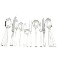 Sterling Silver Canteen of Cutlery for Twelve Persons