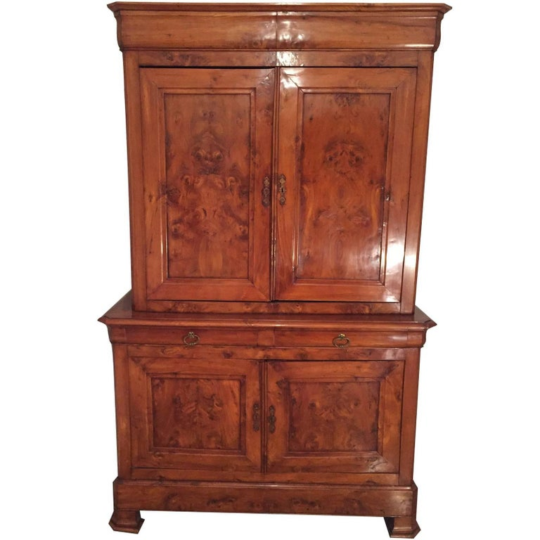 French 19th Century Cupboard Buffet a Deux Corps