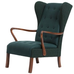 Danish Produced Wing Chair, 1950s