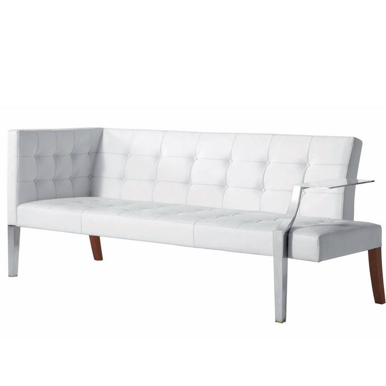 """Monseigneur"" Quilted Leather Sofa Designed by Philippe Starck for Driade"