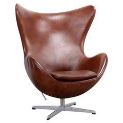 Egg Chair Brown by Arne Jacobsen for Fritz Hansen