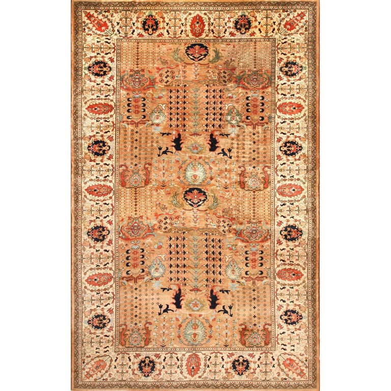 Antique Indian Agra Rug For Sale At 1stdibs: Large Size Vintage Oriental Indian Agra Rug For Sale At