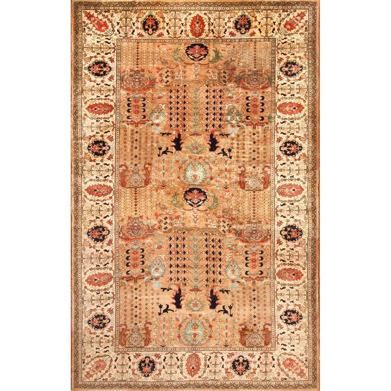 Large Size Vintage Oriental Indian Agra Rug For Sale At