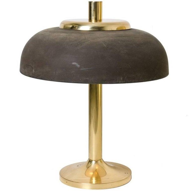 Large Brass Hillebrand Desk Lamp, 1950s