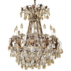 Elaborate Italian Gilt Baltic Form Chandelier