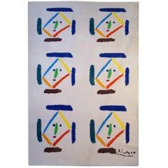 After Picasso Tapestry Carpet Rug 'Gavilla De Fabulas Sin Amor', 1998