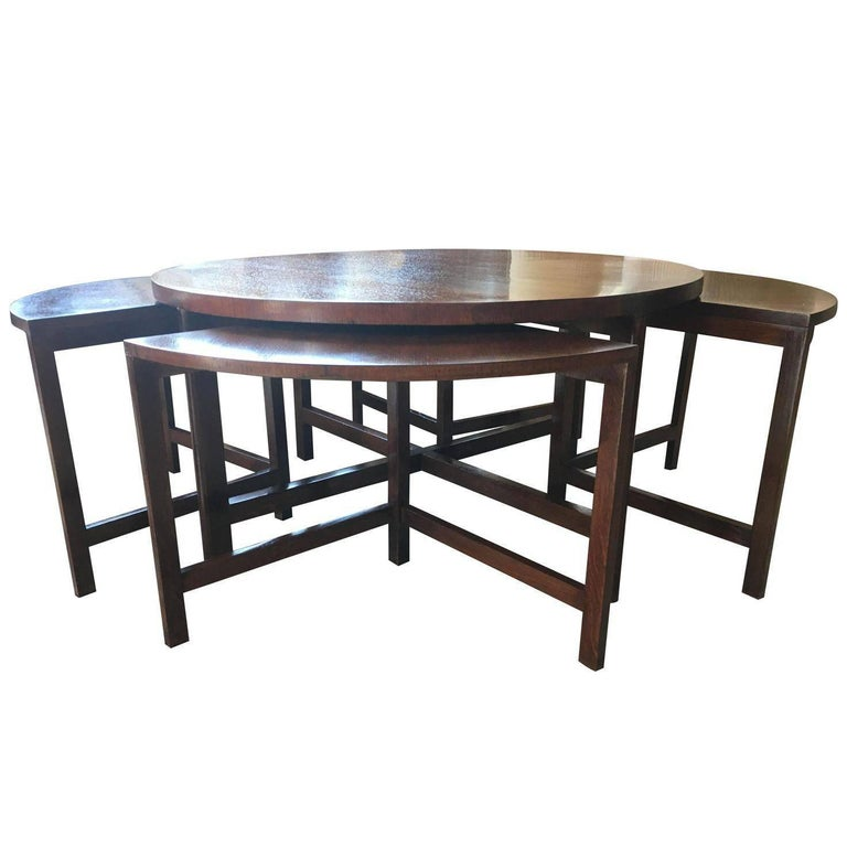 mid century modern nesting bench seats and cocktail table for sale at 1stdibs. Black Bedroom Furniture Sets. Home Design Ideas