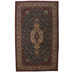 Vintage Tabriz Persian Gallery Rug with Traditional Style