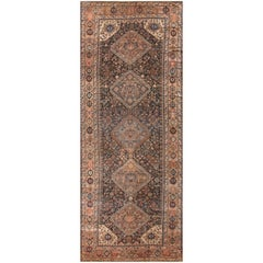 Antique Persian Qashqai Gallery Size Rug