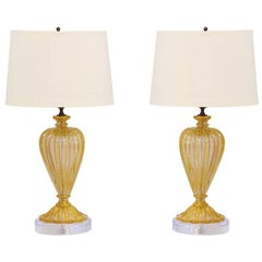 1960s Murano Lamps by Barovier & Toso