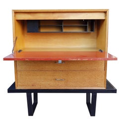 Early Midcentury Modular Cabinet on Platform Bench by George Nelson