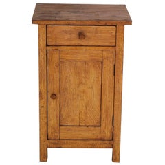 19th Century Tyrolean Rustic Nightstand Solid Larch Restored, Polished to Wax