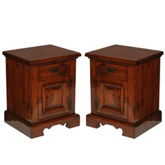 Massive Tuscan Renaissance Mid-20th Century Nightstands