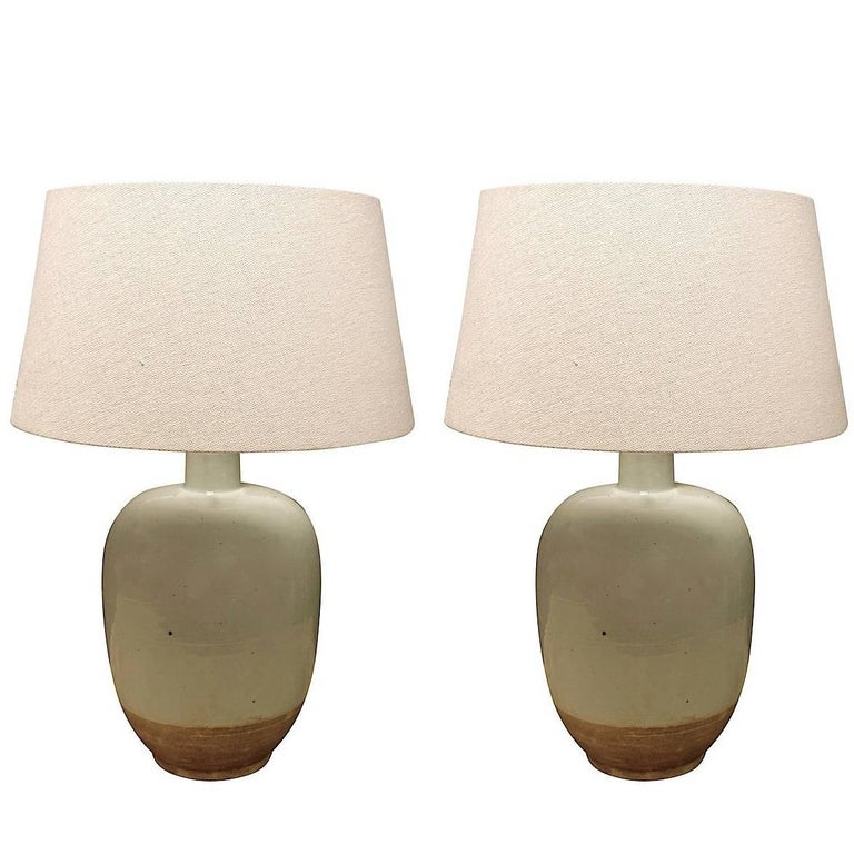 Pair of Pale Blue Lamps, China, Contemporary 1