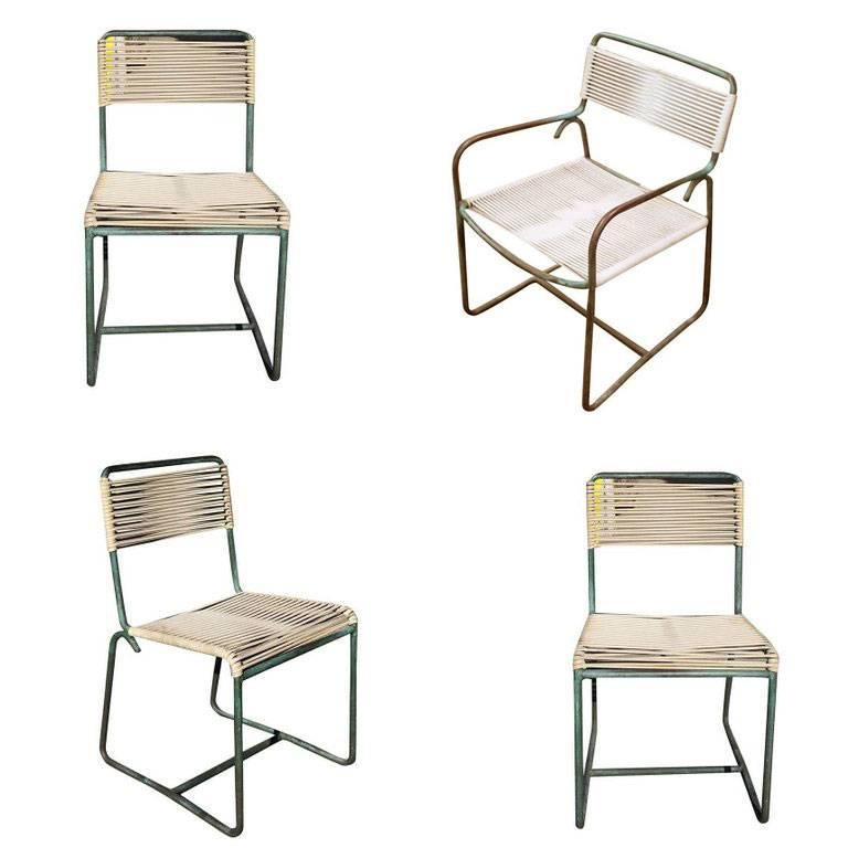 Walter Lamb Brown Jordan Outdoor Patio Bronze Chairs Set Of 3 For