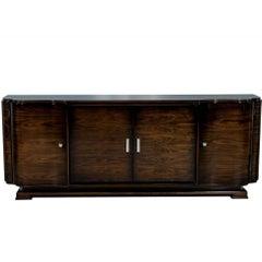 Carrocel Custom Art Deco Style Walnut Sideboard Buffet