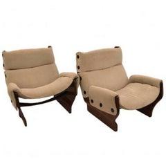 "Osvaldo Borsani Pair of Modernist Club Chairs, Model ""Canada"" #P110"