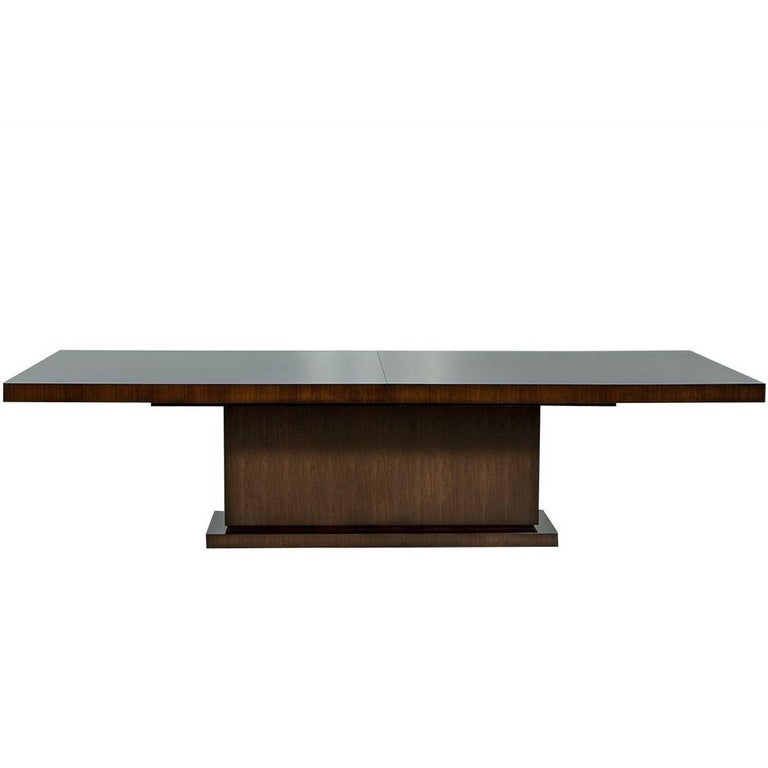 Carrocel Custom-Made Walnut Art Deco Style Dining Table