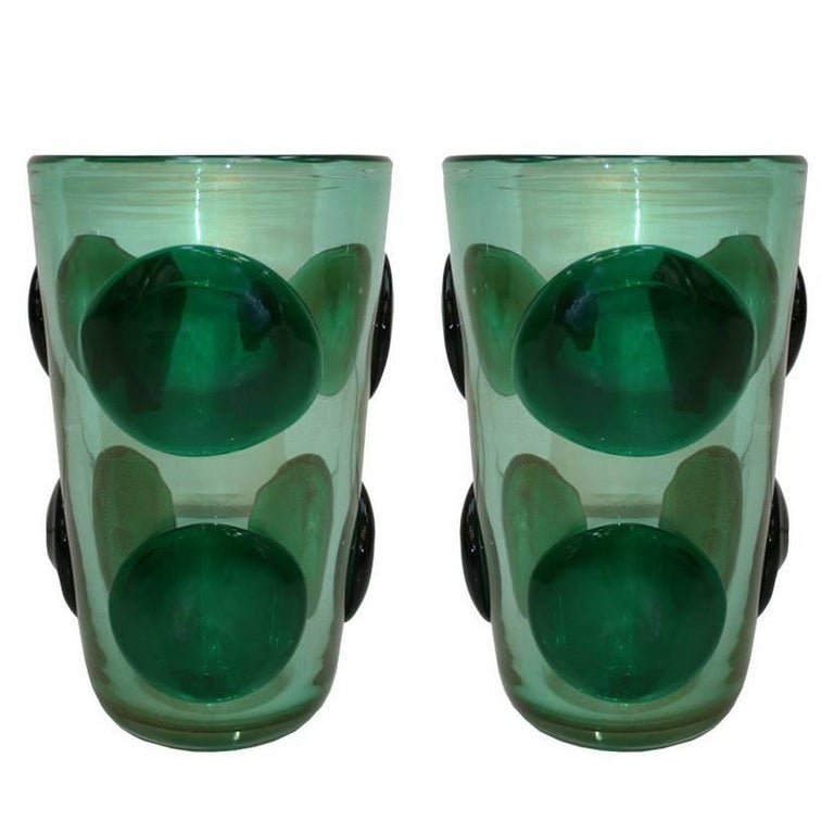 Pair of Vases Designed by Costantini For Sale