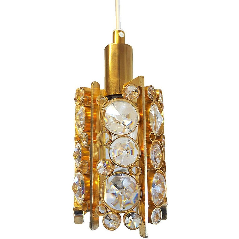 Petite Palwa Pendant Lamp with Crystal Glass