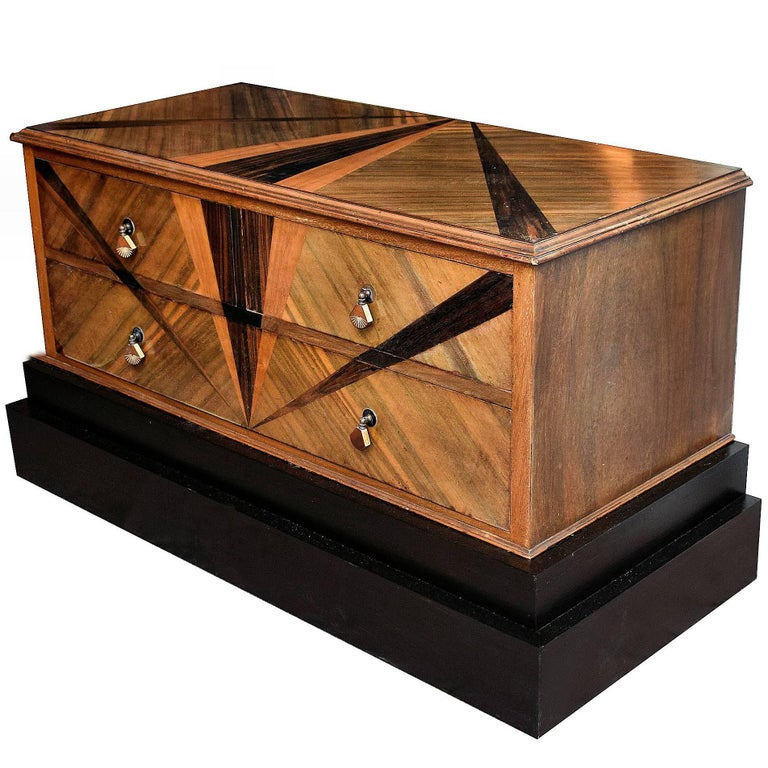 English high style art deco blanket chest of drawers for Examples of art deco furniture
