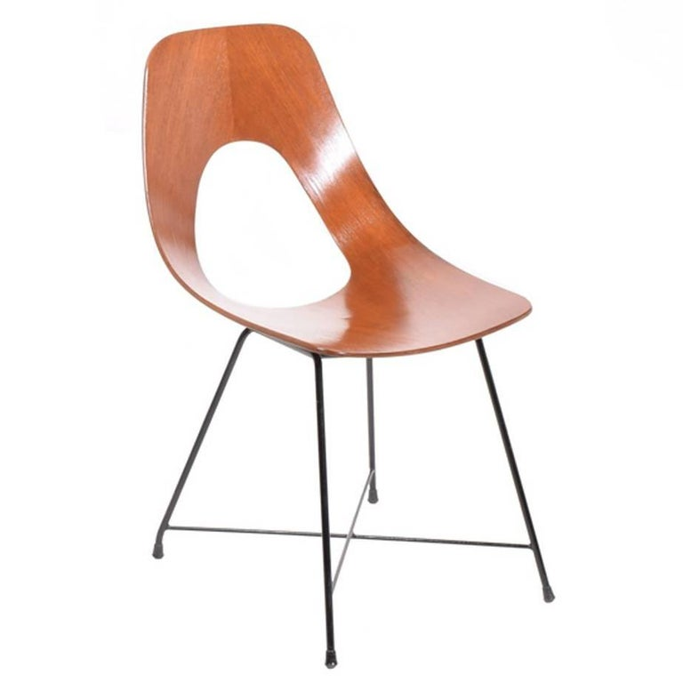 Side Chair Designed by Augusto Bozzi for Saporiti For Sale