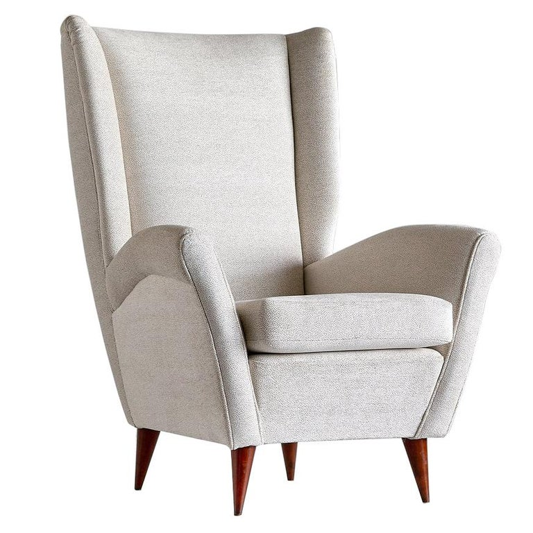Gio Ponti High Back Armchair, Late 1940s For Sale