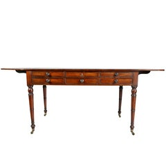 Regency Mahogany and Ebonized Writing Table