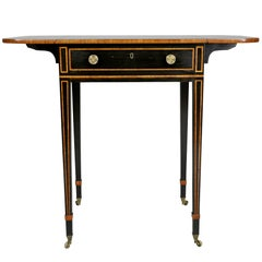 Regency Ebony and Rosewood Side Table