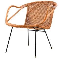 Early Danish Basket Chair, 1940s