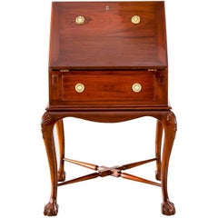 Antique Anglo-Indian or British Colonial Teakwood Drop Front Desk