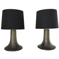 Pair of 1950s Piell Putzler Designer Glass Lamps