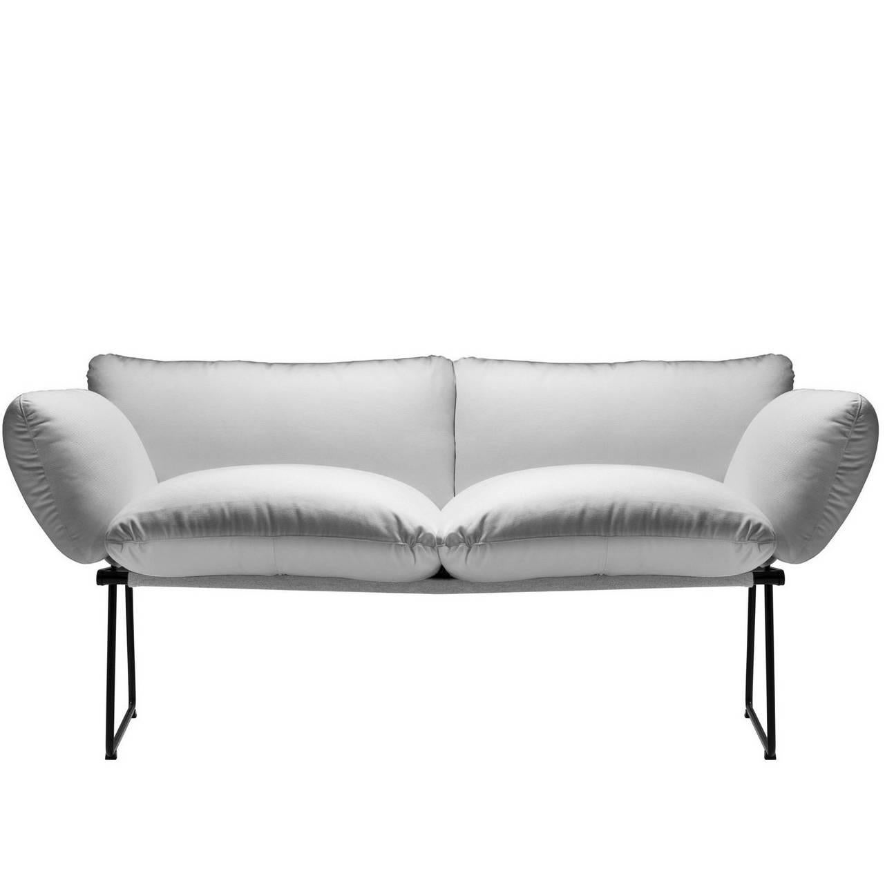 """""""Elisa"""" Outdoor Two-Seat Sofa Designed by Enzo Mari for Driade"""