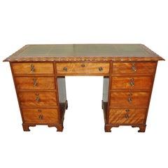 Small Antique Mahogany Kneehole Desk