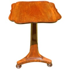 Antique Mahogany Dish Top Wine or Lamp Table