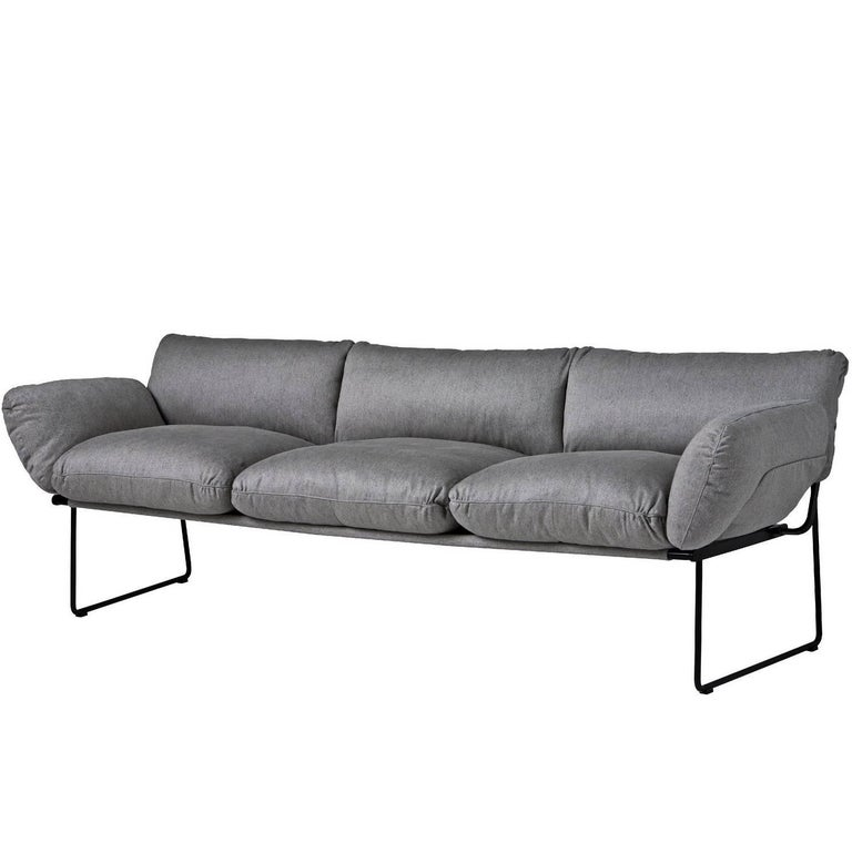 """Elisa"" Indoor Three-Seat Sofa Designed by Enzo Mari for Driade"