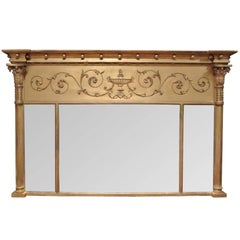 Antique Regency Giltwood Overmantel Mirror