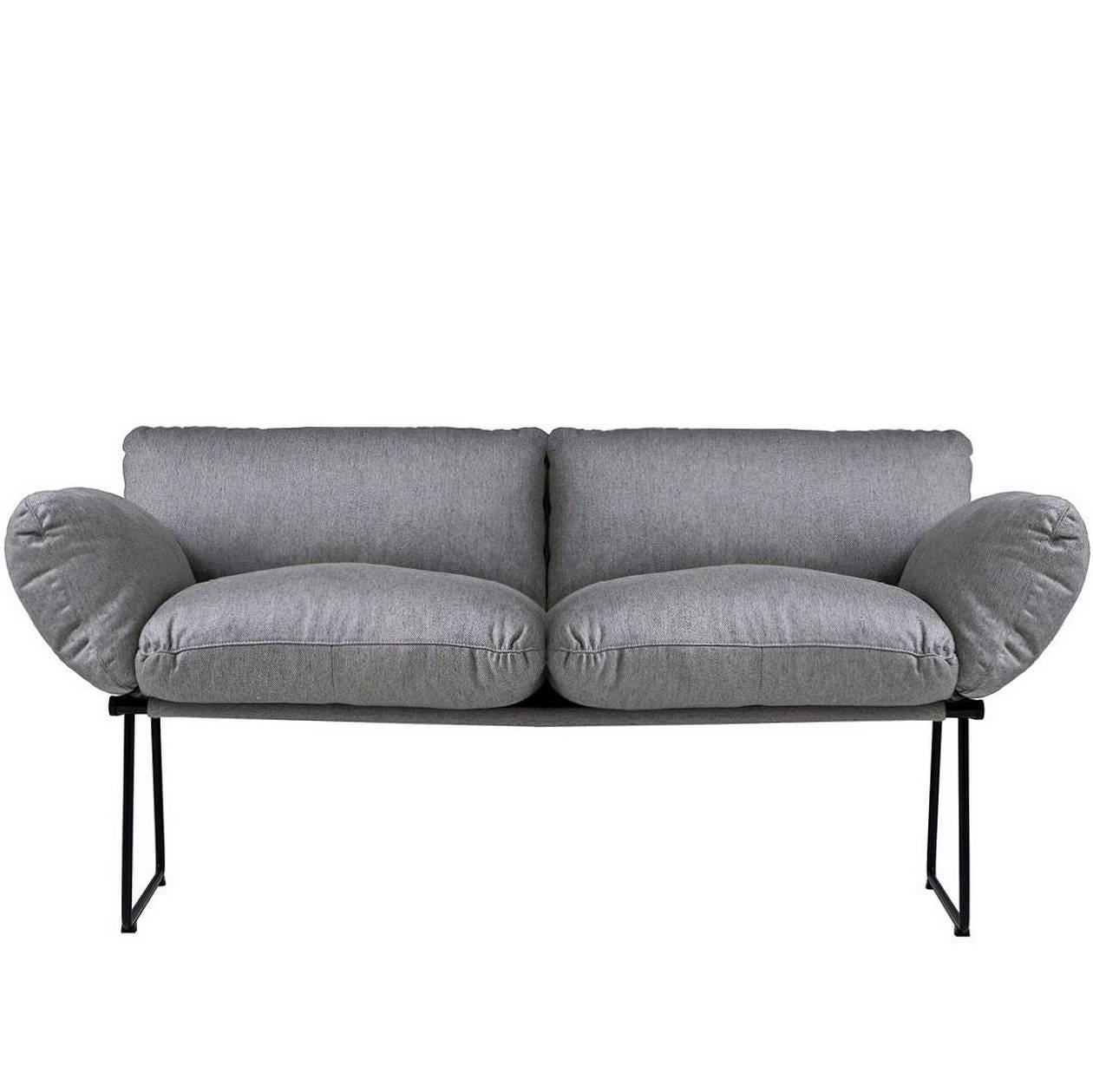 """""""Elisa"""" Indoor Two-Seat Sofa Designed by Enzo Mari for Driade"""