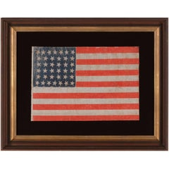 38 Star Antique American Flag with Scatters Stars, Colorado Statehood