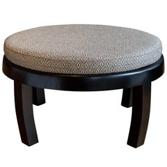 Upholstered Ottoman in the Style of Michael Taylor for Baker