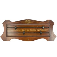 Mahogany Billiard, Snooker Score Board