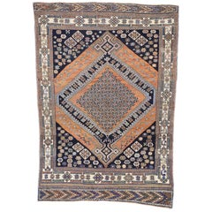 Antique Persian Afshar Rug with Modern Tribal Style