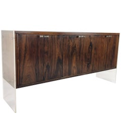 Lucite and Wood Credenza by Flair