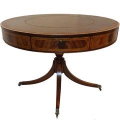English Georgian Mahogany Rent Table or Library Table