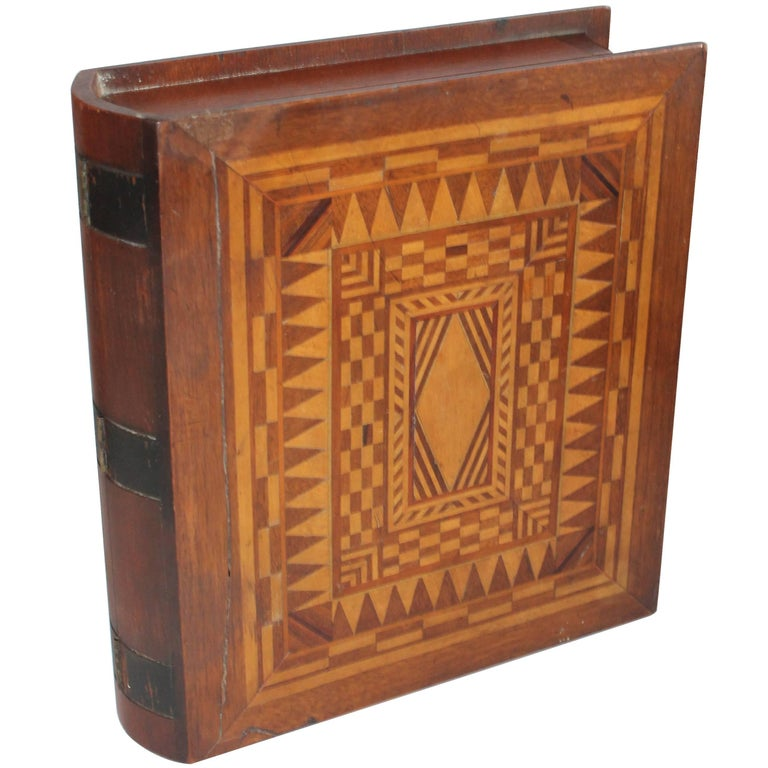 19th Century Folky Inlaid Bible Box